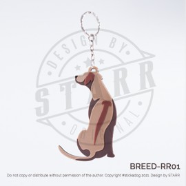 RIDGEBACK Key Chain (BREEDS) Sitting