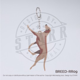 RIDGEBACK Key Chain (BREEDS) Runing