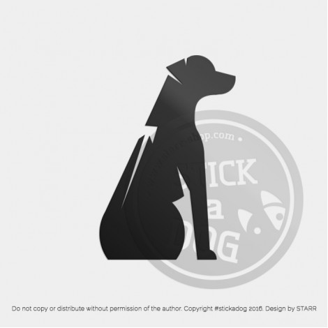 Rhodesian Ridgeback Abstract Sitting Silhouette
