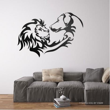 Rhodesian Ridgebacks Lion