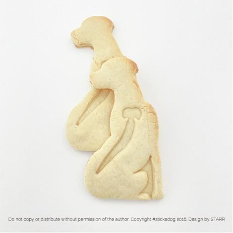 Rhodesian Ridgeback Sitting - Cookie Cutter
