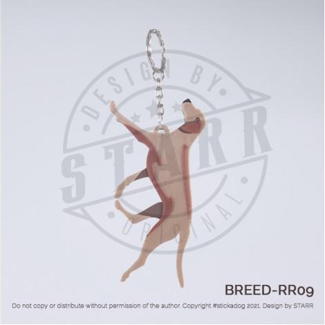 RIDGEBACK Key Chain (BREEDS) Runing