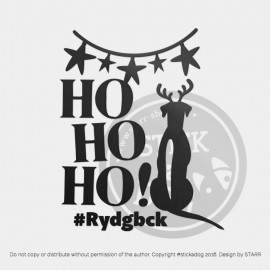 Rhodesian Ridgeback - Ho Ho Ho (T-SHIRT/FABRIC TRANSFER)