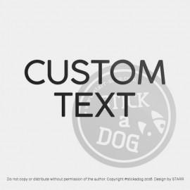 TEXT: Custom